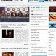 Elegant News Blogger Templates