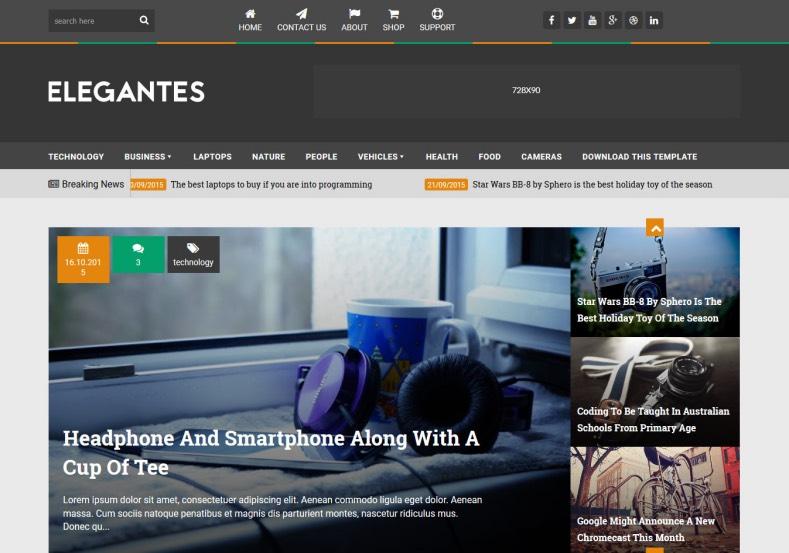 Elegantes Blogger Template. blogspot themes for who use blogger platform to build weblogs. Elegantes Blogger Template.