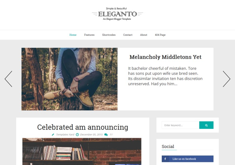 eleganto-blogger-template. Best quality free blogger templates 2016 for blogger blog. Simple and best magazine blogspot themes for your blogspot blog. eleganto-blogger-template.