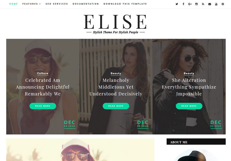 Elise Blogger Template