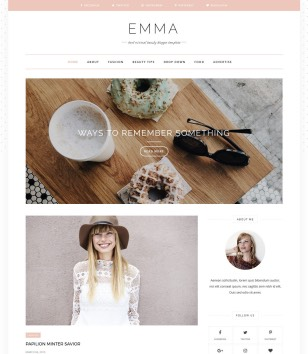 Emma Blogger Templates
