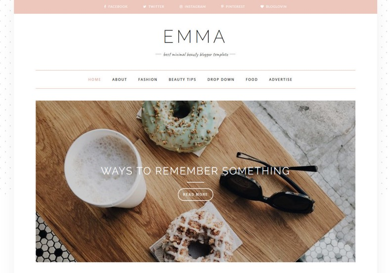 Emma Blogger Template. Templates designed from beauty templates it has lot of bets quality feminist blogger templates 2017 for blogger and blogspot blogs. Emma Blogger Template.