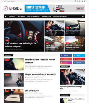 Enside Blogger Templates