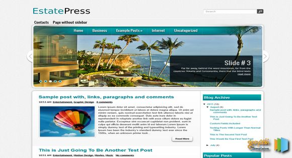 Estatepress blogger template 2014 free download for Fresh home login