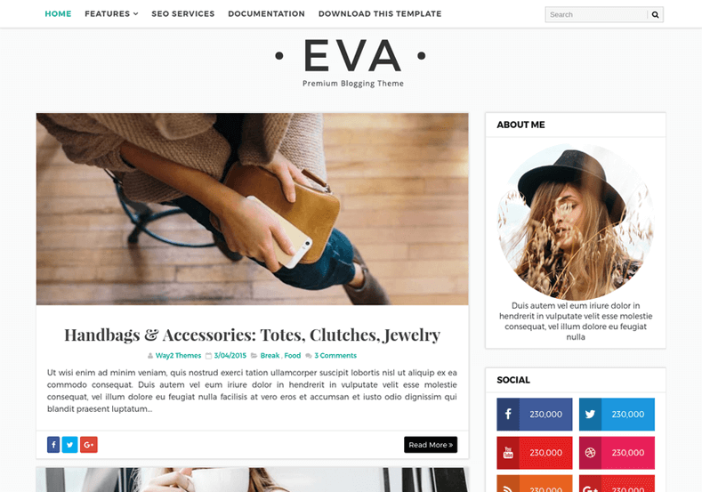 Eva Simple Blogger Template is a multipurpose responsive fashion blogger template mainly built for female bloggers