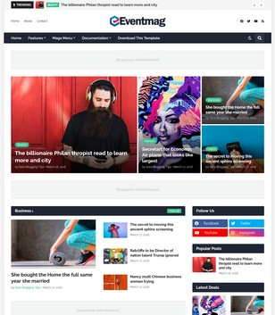 EventMag Blogger Templates