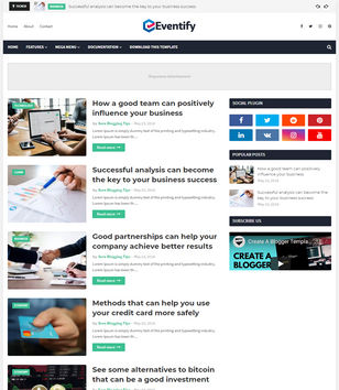 Eventify Blogger Templates