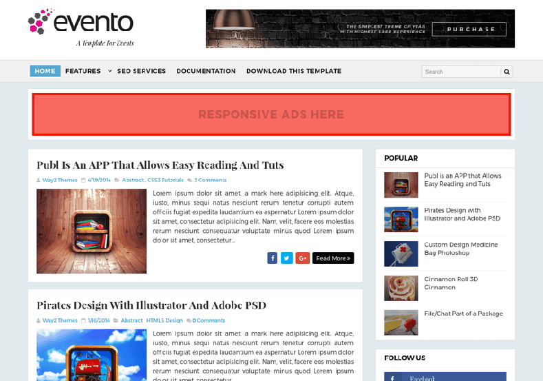 Evento Event Blogger Template is one of the best responsive and free blogger theme for event and simple blogging
