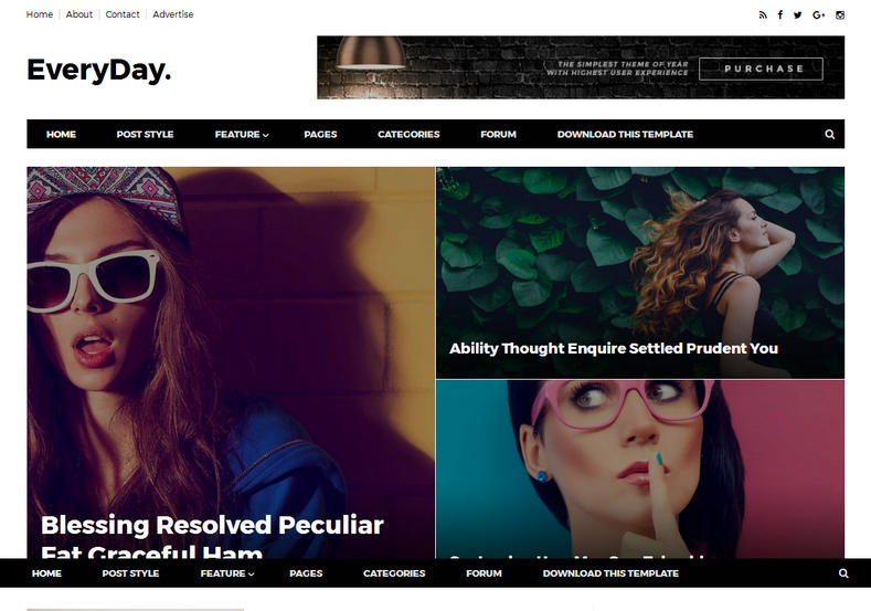 EveryDay Blogger Template is a clean and perfect magazine blogger theme with best responsiveness