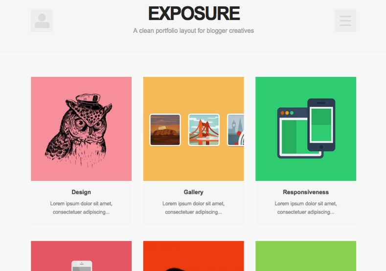 Exposure Blogger Template 2015. buy premium blogger template