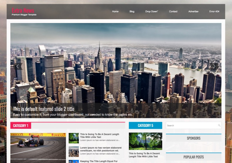 Extra News Blogger Template. Extra News Blogger Template 2015 premium blogger templates