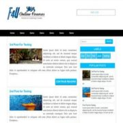 F4U Blue Flame Blogger Templates