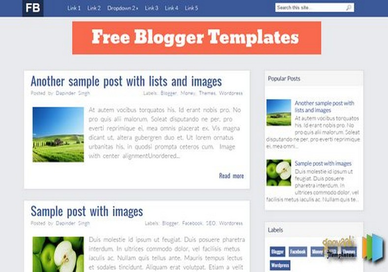 FB Blogger Template 2015 free blogger templates