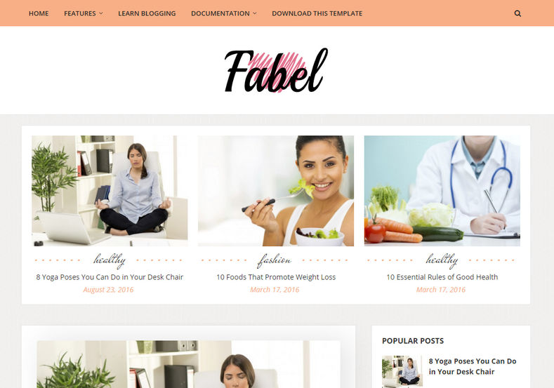 Fabel Blogger Template is a elegantly designed minimal looking blogging blogspot theme with updated design and simple responsive looks.