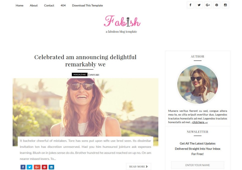 Fabish Blogger Template. Free blogger templates 2016 make your blogger blog awesome. Get beautiful and high quality blogspot themes for get new blogging experience. Fabish Blogger Template.
