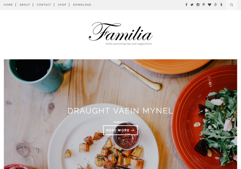 Familia Blogger Template is best free feminist blogger templates 2017 for girls and fashion blogspot blogs. Get this themes for redesign or design your new blogspot blog with Familia Blogger Template.