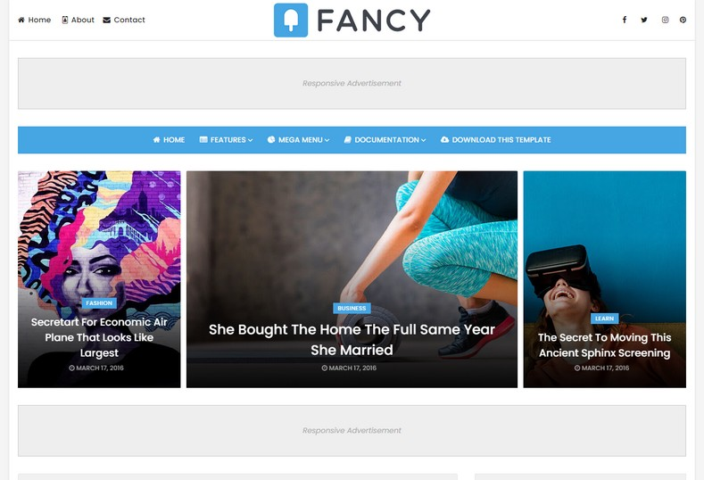 Fancy Blogger Template is an exciting blogspot theme with a lot of unique and impressive features that are fast loading and compatible with all the latest browsers
