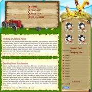 Farmville 2 Blogger Template