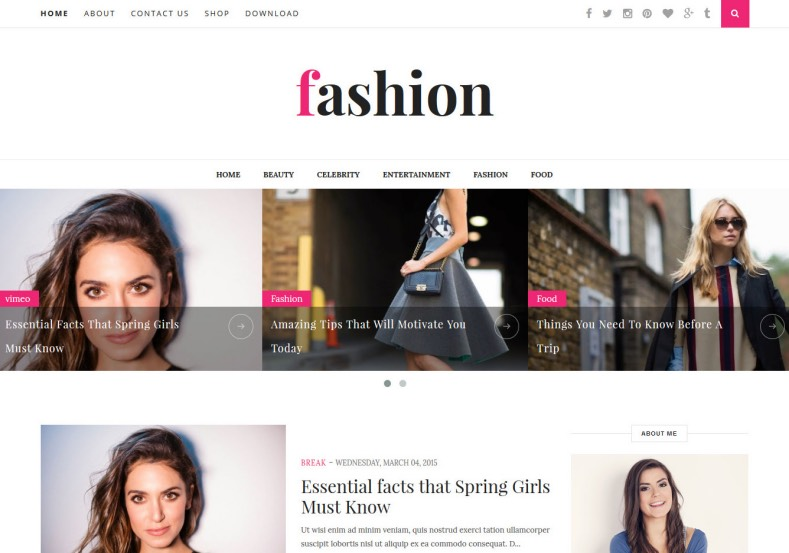 Fashion Clean Blogger Template. 2015 Fashion Clean Blogger Template