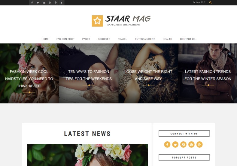 Fashion Staar Blogger Template. Blogger Themes. Best suitable for news blog templates. Ads ready blogspot templates help for add adsense ad code and easily showing adsence ads in your blog. Adapted from WordPress templates are converted from WordPress themes. It is help for take your rich. Blogger magazine template specially designed for magazine blogs. The writers can utilize this themes for take blog attractive to users. Elegant themes are more used themes in most of the blogs. Minimalist blog templates. Free premium blogger themes means, themes authors release two types of themes. One is premium another one is free. Premium templates given for cost but free themes given for no cost. You no need pay From California, USA. $10 USD, or $20 USD and more. But premium buyers get more facilities from authors But free buyers. If you run game or other animation oriented blogs, and you can try with Anime blog templates. Today the world is fashion world. So girls involve to the criteria for make their life fashionable. So we provide fashion blogger themes for make your fashionable. News is most important concept of the world. Download news blogger templates for publishing online news. You can make your blog as online shopping store. Get Online shopping store blogger template to sell your product. Navigation is most important to users find correct place. Download drop down menu, page navigation menu, breadcrumb navigation menu and vertical dropdown menu blogspot themes for free. Google Guide. Blogging tips and Tricks for bloggers. Google bloggers can get blogspot trick and tips for bloggers. Blog templates portfolio professional blogspot themes, You can store your life moments with your blogs with personal pages templates. Video and movie blogs owners get amazing movie blog themes for their blogs. Business templates download. We publish blogger themes for photographers. Photographers easily share photos via photography blog themes. St valentine Christmas Halloween templates. Download Slideshow slider templates for free. Under construction coming soon custom blogspot template. Best beautiful high quality Custom layouts Blog templates from templateism, soratemplates, templatetrackers, simple, cute free premium professional unique designs blog themes blogspot themes. Seo ready portfolio anime fashion movie movies health custom layouts best download blogspot themes simple cute free premium professional unique designs xml html code html5.