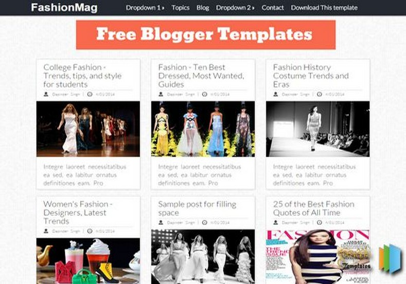 FashionMag Blogger Template gallery girly