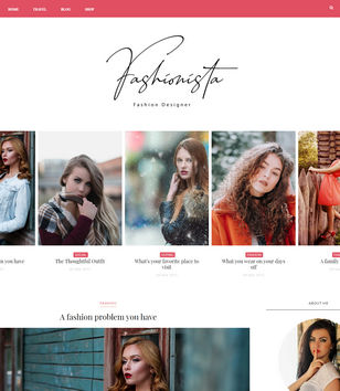 Fashionista Blogger Templates