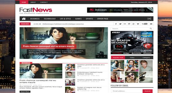 Fast News Responsive Blogger Template - Blogger Tuts
