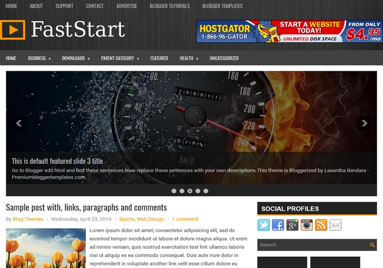 FastStart Responsive Blogger Template. Blogger Themes. Free Blogspot templates for your blogger blog. Best suitable for news blog templates. Ads ready blogspot templates help for add adsense ad code and easily showing adsence ads in your blog. Adapted from WordPress templates are converted from WordPress themes. It is help for take your rich. Blogger magazine template specially designed for magazine blogs. The writers can utilize this themes for take blog attractive to users. Elegant themes are more used themes in most of the blogs. Use minimalist blog templates for rich look for your blog. Free premium blogger themes means, themes authors release two types of themes. One is premium another one is free. Premium templates given for cost but free themes given for no cost. You no need pay From California, USA. $10 USD, or $20 USD and more. But premium buyers get more facilities from authors But free buyers. If you run game or other animation oriented blogs, and you can try with Anime blog templates. Today the world is fashion world. So girls involve to the criteria for make their life fashionable. So we provide fashion blogger themes for make your fashionable. News is most important concept of the world. Download news blogger templates for publishing online news. You can make your blog as online shopping store. Get Online shopping store blogger template to sell your product. Navigation is most important to users find correct place. Download drop down menu, page navigation menu, breadcrumb navigation menu and vertical dropdown menu blogspot themes for free. Google Guide. Blogging tips and Tricks for bloggers. Google bloggers can get blogspot trick and tips for bloggers. Blog templates portfolio professional blogspot themes, You can store your life moments with your blogs with personal pages templates. Video and movie blogs owners get amazing movie blog themes for their blogs. Business templates download. We publish blogger themes for photographers. Photographers easily 