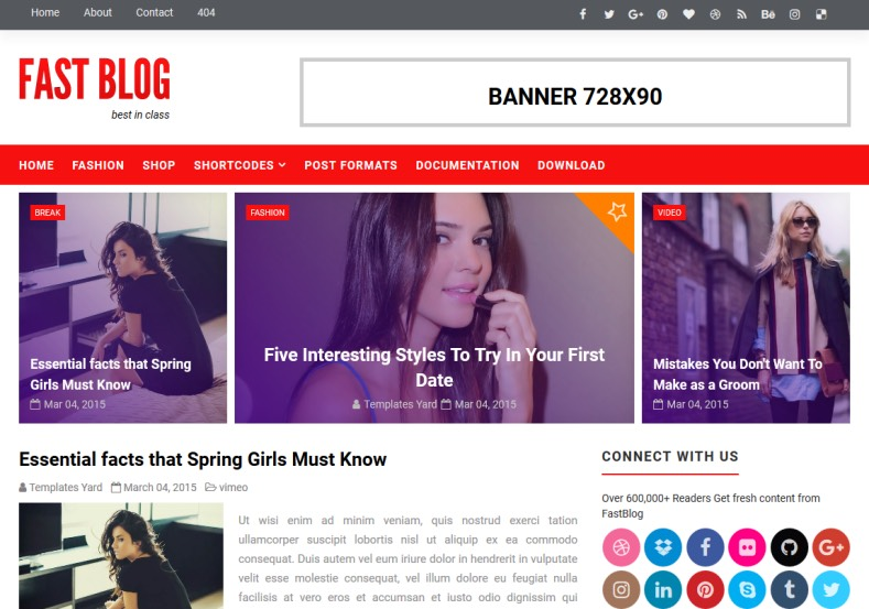 Fastblog Blogging Blogger Template 2018 is best quality magazine blogging and blogger template free Fastblog Blogging Blogger Template