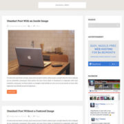 Feather Responsive Blogger Templates