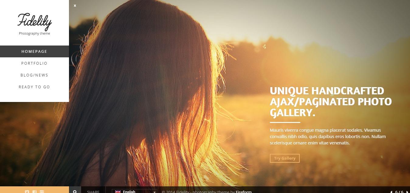 Fidelity - Premium Photography WordPress Theme