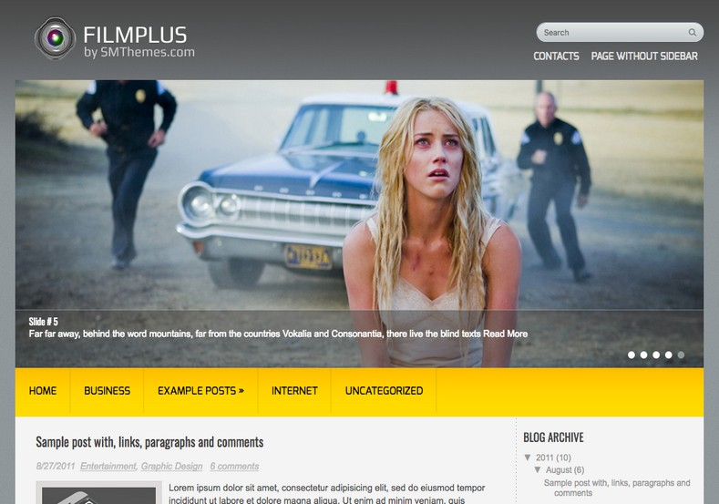 FilmPlus Blogger Template free download blogspot themes