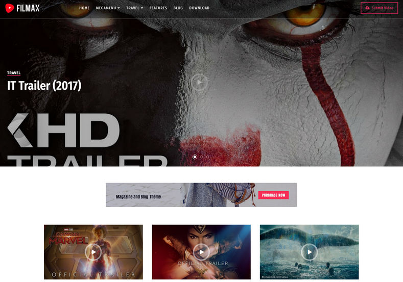 Filmax Blogger Template is an feature full and elegantly designed responsive blogspot theme specially made for movie blogs.
