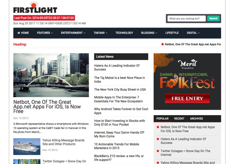 Firstlight Blogger Template. Blogger templates 2017 for tech and online magazine blogspot blogs. Buy premium quality blogger templates from gooyaabi templates. Firstlight Blogger Template.