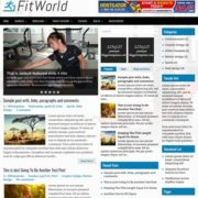 FitWorld Blogger Templates