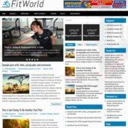 FitWorld Blogger Templates