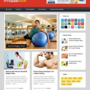 FitnessMag Blogger Templates