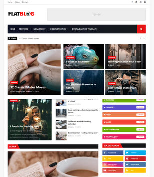 FlatBlog Blogger Templates