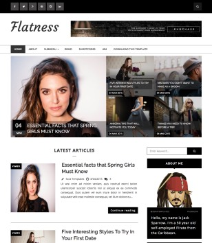 Flatness Blogger Templates
