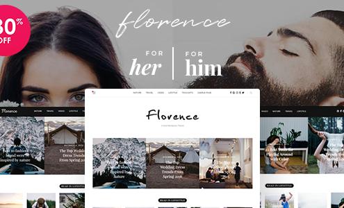 Florence - Feminine Clean and Fresh WordPress Blogging Theme