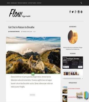 Flow Blogger Templates