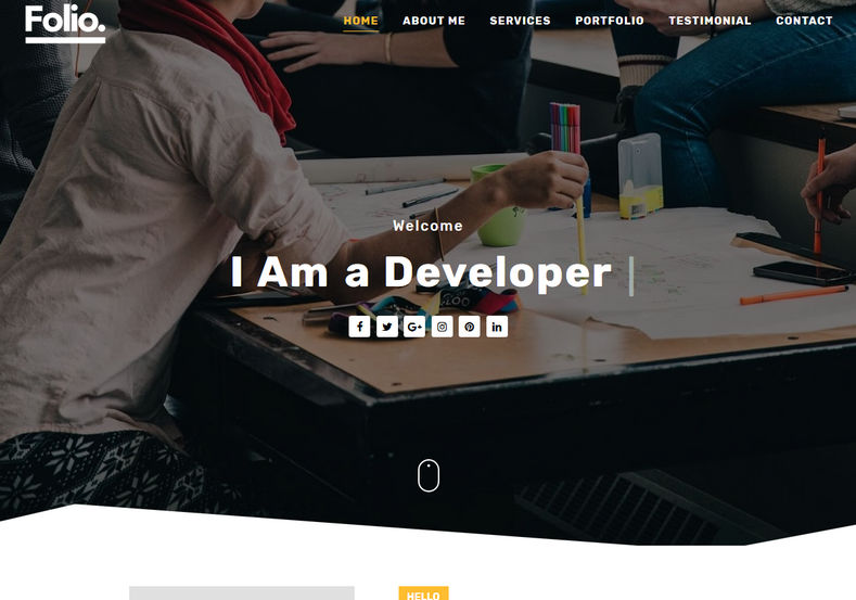 Folio Blogger Template is an unique portfolio blogspot theme with great fast loading design and responsive features