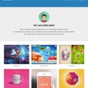 Foliocard Responsive Portfolio Blogger Templates