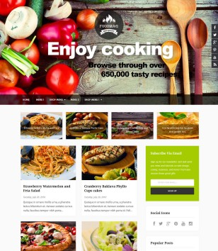 Food and drink blogger templates 2018 free download food mag restaurant forumfinder Choice Image
