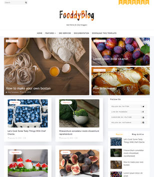 Fooddy Blogger Templates