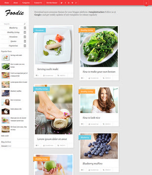 Foodie Responsive Blogger Templates