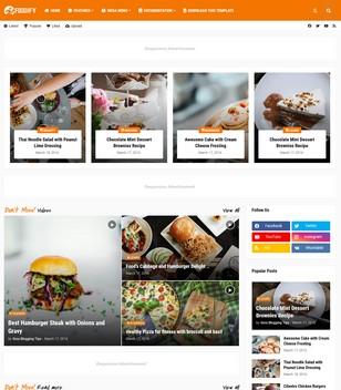 Foodify Blogger Templates
