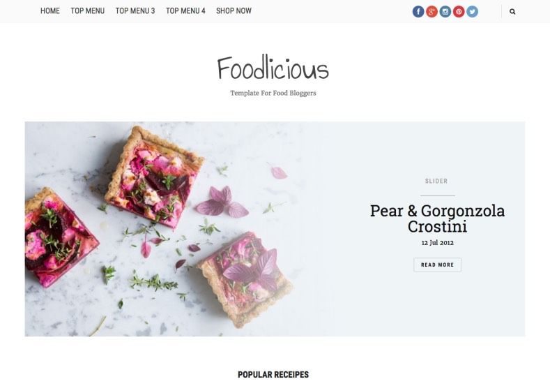 Foodlicious Blogger Template. Blogger template for foot and magazine blogs. Built your hotel and restaurant blogs with this blogger template. Download Foodlicious Blogger Template for free.