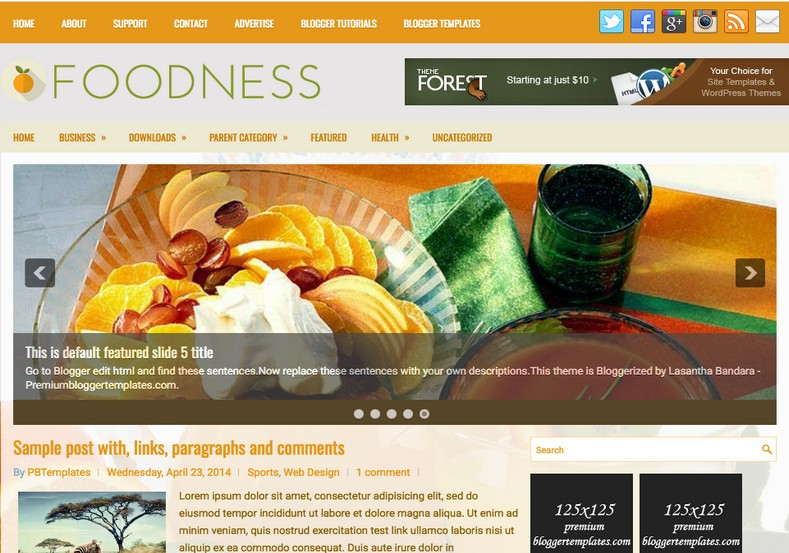 Foodness Health Blogger Template. Blogger Themes. Free Blogspot templates for your blogger blog. Best suitable for news blog templates. Ads ready blogspot templates help for add adsense ad code and easily showing adsence ads in your blog. Adapted from WordPress templates are converted from WordPress themes. It is help for take your rich. Blogger magazine template specially designed for magazine blogs. The writers can utilize this themes for take blog attractive to users. Elegant themes are more used themes in most of the blogs. Minimalist blog templates. Free premium blogger themes means, themes authors release two types of themes. One is premium another one is free. Premium templates given for cost but free themes given for no cost. You no need pay From California, USA. $10 USD, or $20 USD and more. But premium buyers get more facilities from authors But free buyers. If you run game or other animation oriented blogs, and you can try with Anime blog templates. Today the world is fashion world. So girls involve to the criteria for make their life fashionable. So we provide fashion blogger themes for make your fashionable. News is most important concept of the world. Download news blogger templates for publishing online news. You can make your blog as online shopping store. Get Online shopping store blogger template to sell your product. Navigation is most important to users find correct place. Download drop down menu, page navigation menu, breadcrumb navigation menu and vertical dropdown menu blogspot themes for free. Google Guide. Blogging tips and Tricks for bloggers. Google bloggers can get blogspot trick and tips for bloggers. Blog templates portfolio professional blogspot themes, You can store your life moments with your blogs with personal pages templates. Video and movie blogs owners get amazing movie blog themes for their blogs. Business templates download. We publish blogger themes for photographers. Photographers easily share photos via photography blog themes. St valentine Christmas Halloween templates. Download Slideshow slider templates for free. Under construction coming soon custom blogspot template. Best beautiful high quality Custom layouts Blog templates from templateism, SoraTemplates, templatetrackers, simple, cute free premium professional unique designs blog themes blogspot themes. Seo ready portfolio anime fashion movie movies health custom layouts best download blogspot themes simple cute free premium professional unique designs xml html code html5.