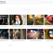 Fotolia Photography Blogger Template
